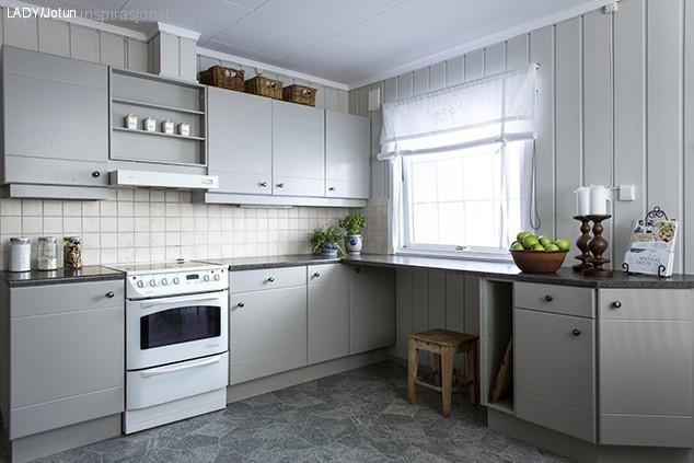 Ny og lysere hverdag med nymalt kjøkken