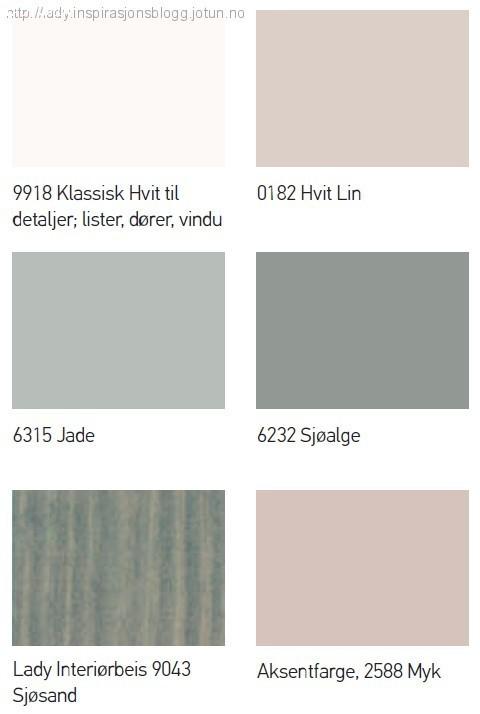 Farger til hytta_Fargepalett Sjøhytte