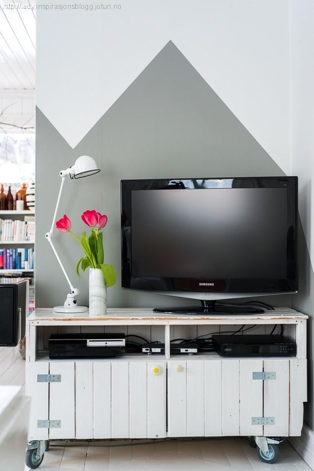 Den nye TV veggen!