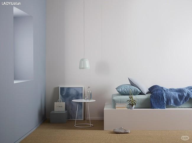 Svalt og dempet blått med LADY Pure Color 4710 Duggblå. Her sammen ...