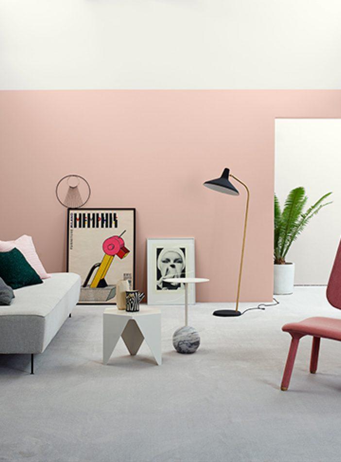 Trend – Del opp veggen med ulike malinger'