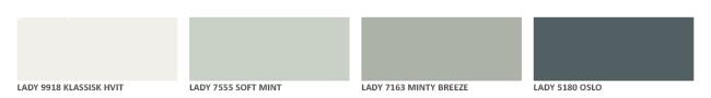Perfekt fargepalett hos Lene Orvik