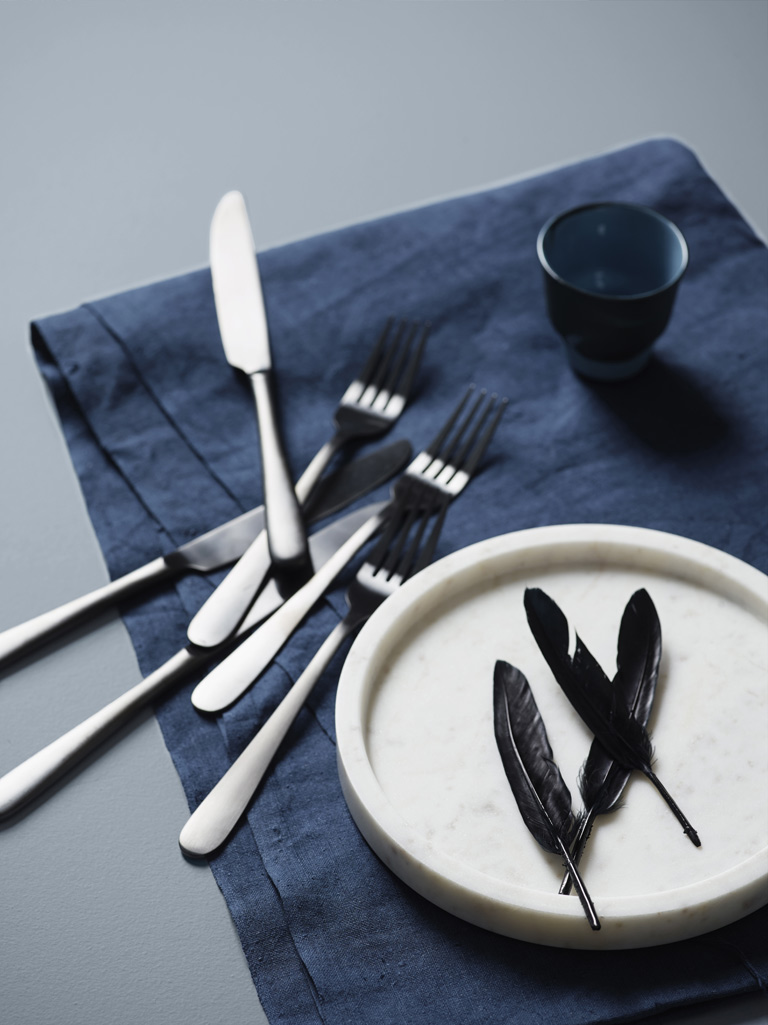 Blå bordplate