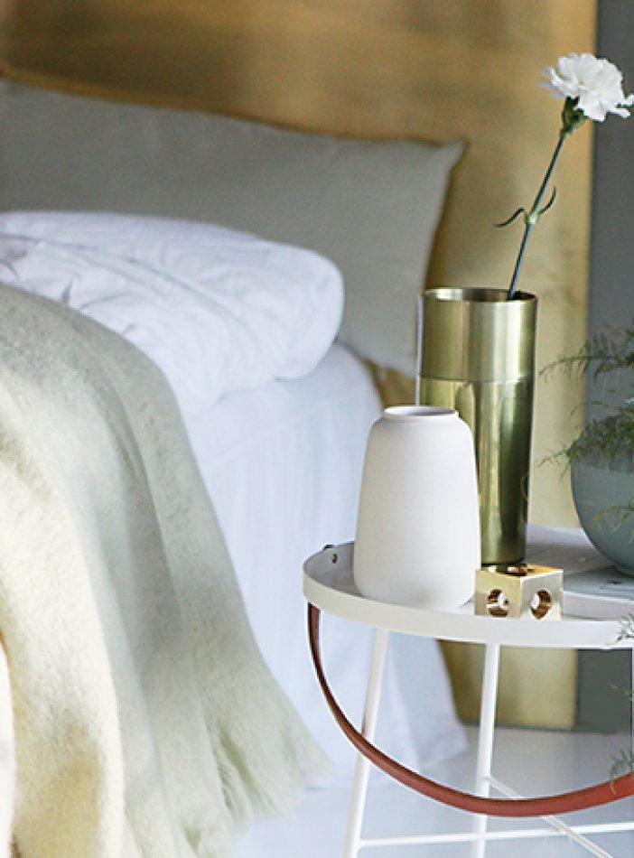 Grønn harmoni på soverommet'