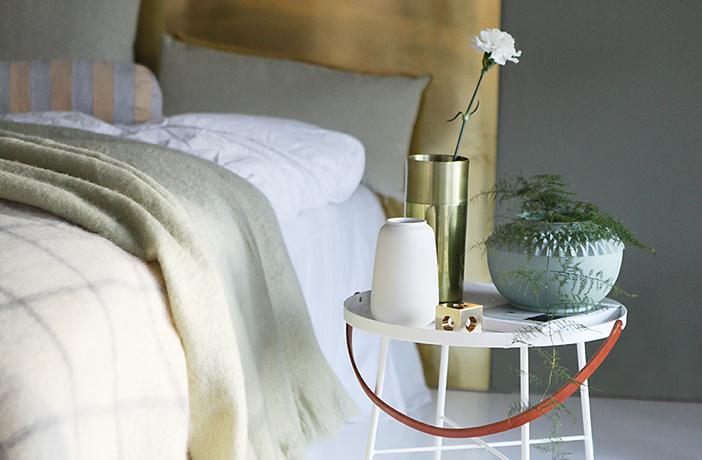 Grønn harmoni på soverommet