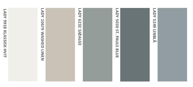 Fargepalett til kontorlokaler