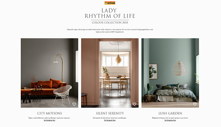 LADY digitalt fargekart 2018