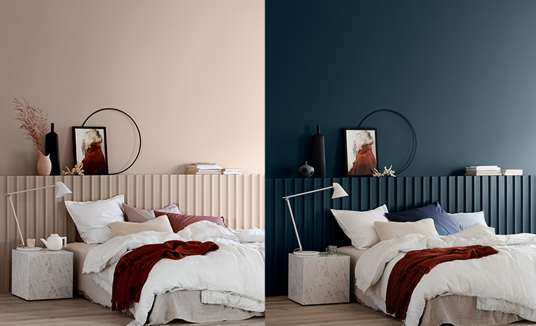 Ett rom, ulike farger