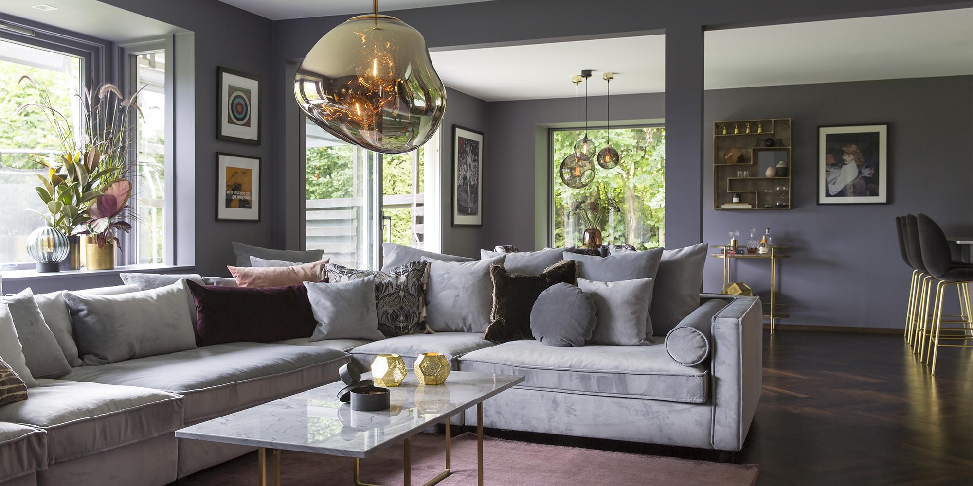 Foretrukket Luksuriøs stue med varme farger og eksklusive detaljer @FS-28