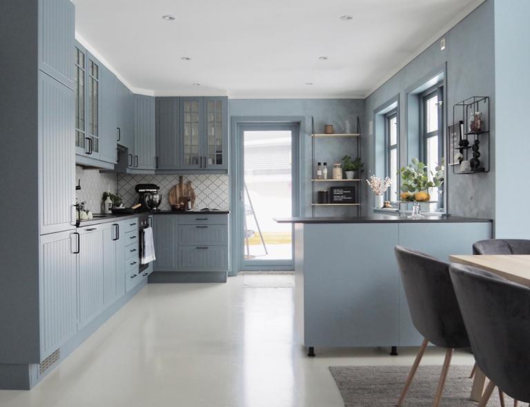 fd8238c2 Nøytralt kjøkken - ble rått med blått! - Boya Fikirleri