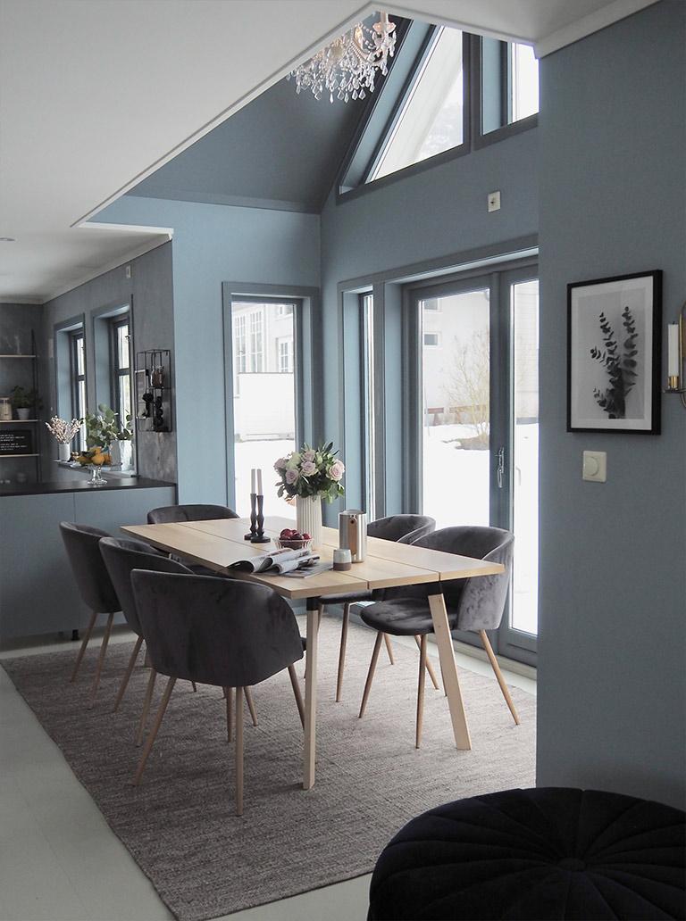 Rått og blått kjøkken