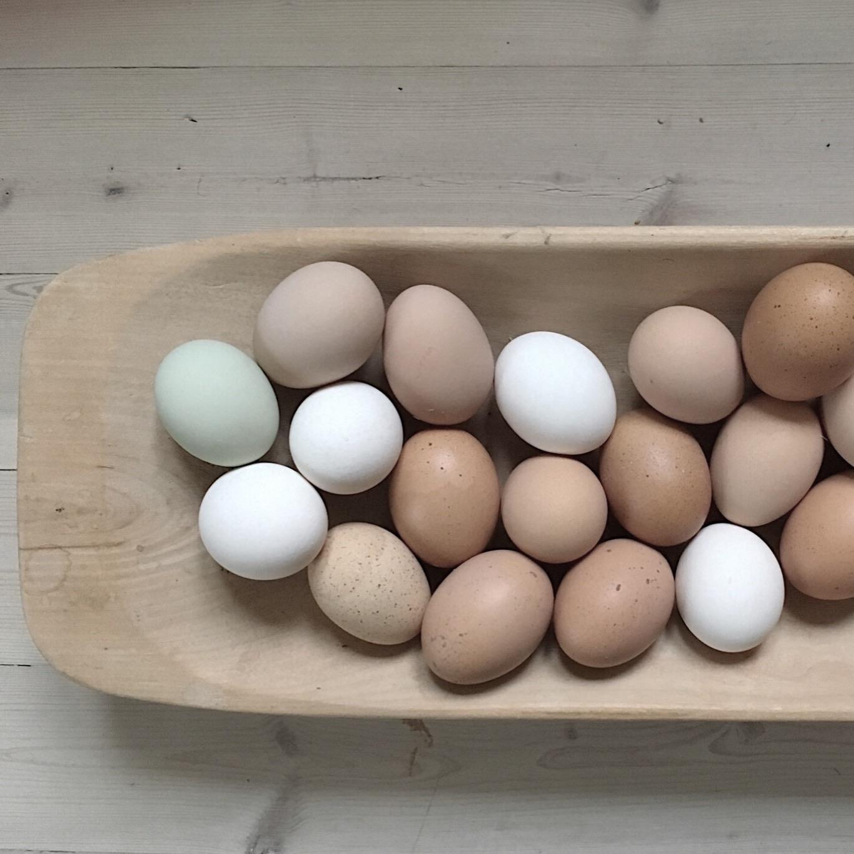 Både egg og hus i påskepasteller