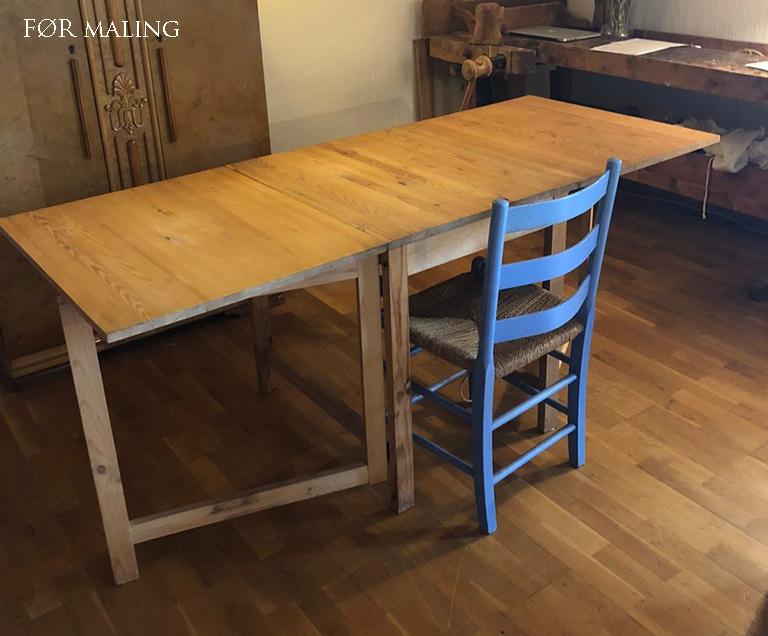 Bordet før maling!