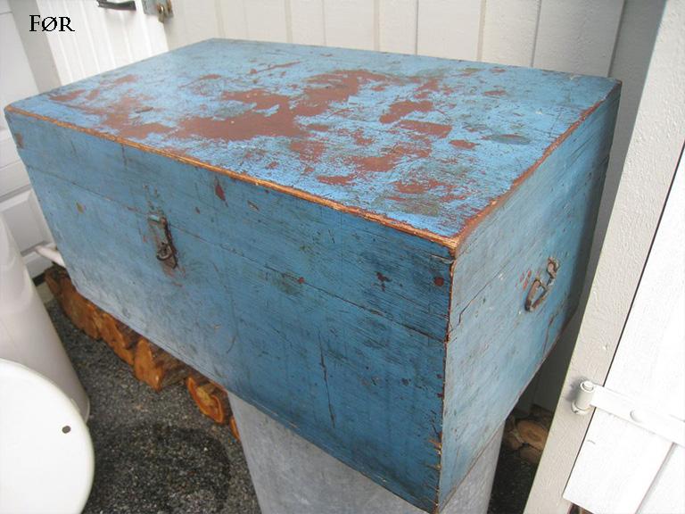 Kiste FØR maling