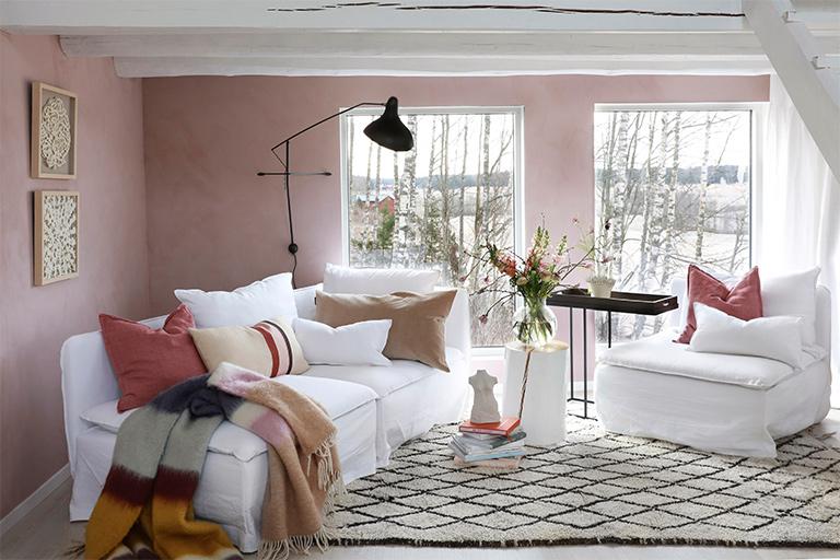 Vårlig vakkert med rosa stue