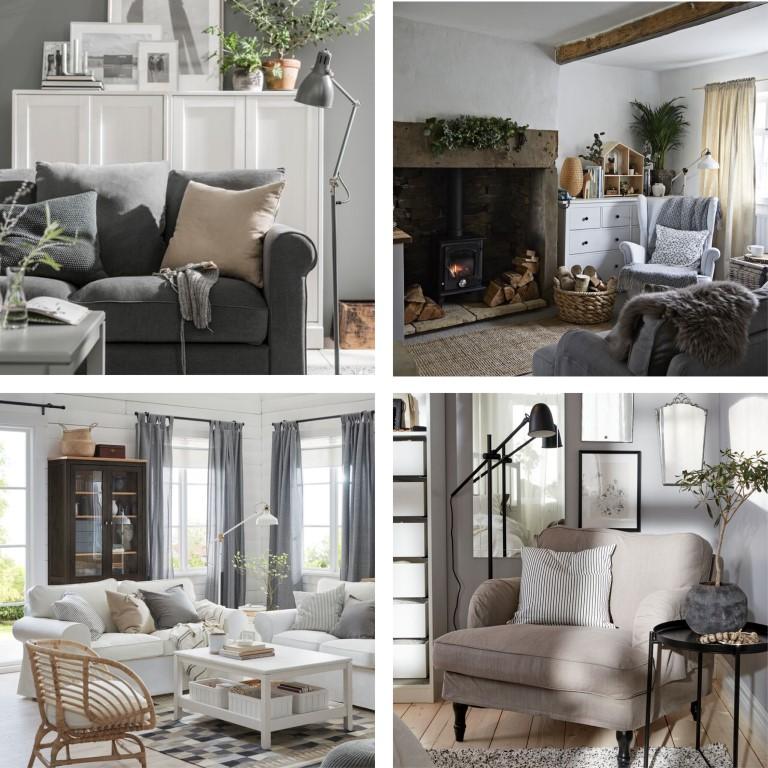 IKEA grå beige hyttepalett