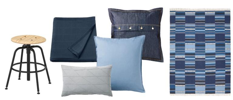 IKEA hyttepaletter blå