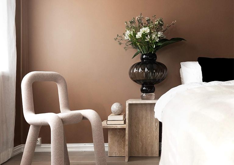 Varm og eksklusiv farge til soverommet