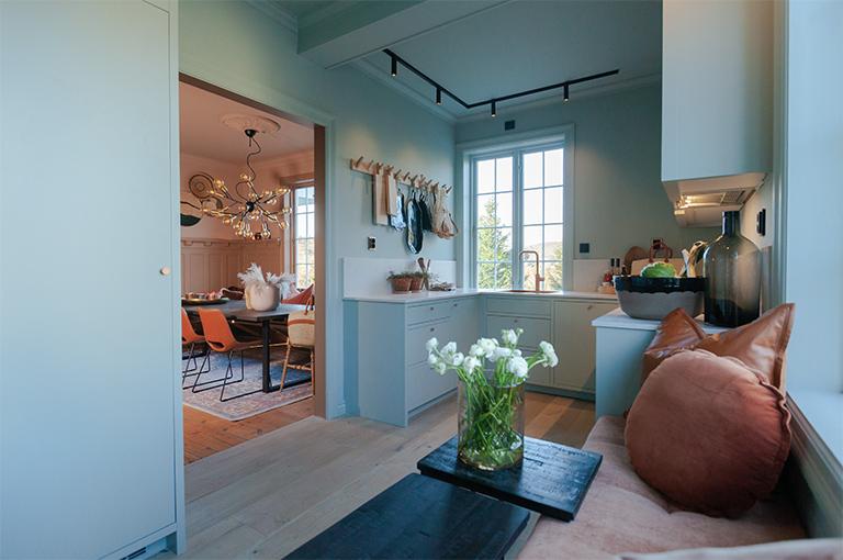 Nytt kjøkken i tradisjonsrik villa
