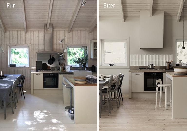 Kirstens kjøkken - før og etter oppussing