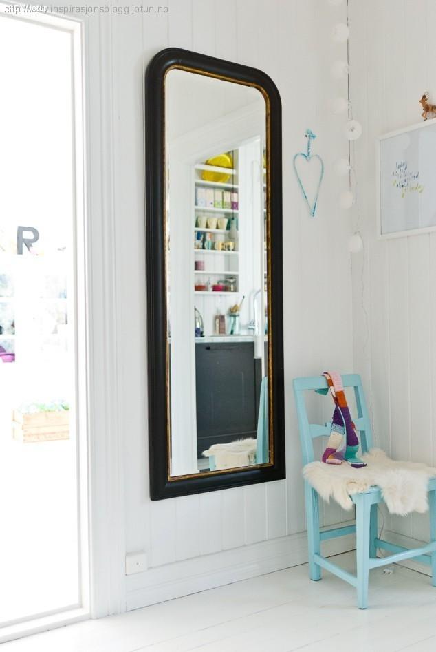 Lady inspirasjonsblogg Jotun male speil grått
