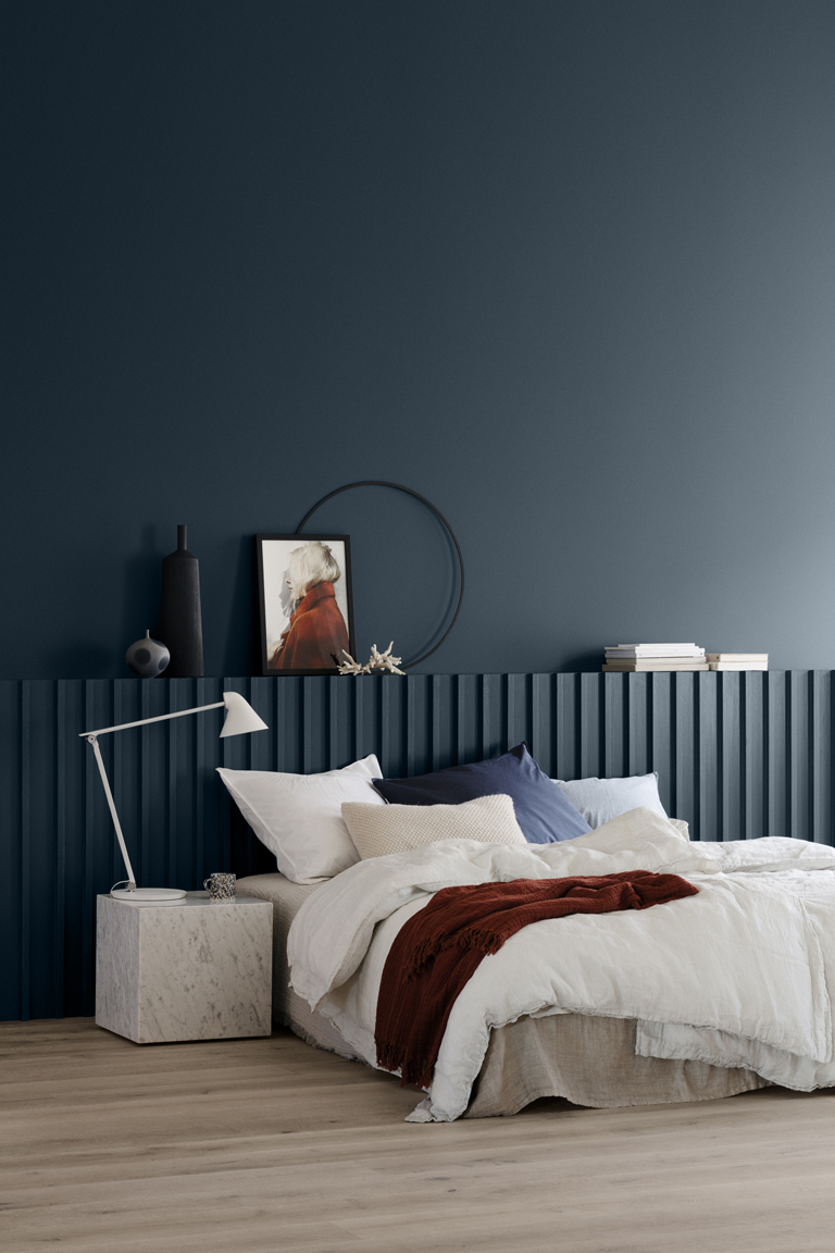 Vägg målad med LADY 5455 Industrial Blue